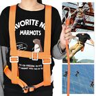 Adjustable Safety Belt Harness Lanyard Strap Five-Point Reflective Aerial Work