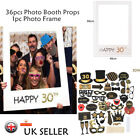 18/21st/30/40/50/60th Birthday Party Photo Booth Props Photo Frame Party Decor