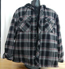 NWT Men's Boston Traders Hooded Flannel Shirt Jacket w/Quilted Lining
