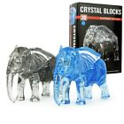 Blue and Gray Elephant 3D Crystal Blocks Puzzle Jigsaw 41pcs Intelligence Toy