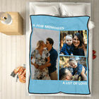 Customized Photos Collage Fleece Blanket Pictures Personalized Throw Family Gift image