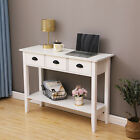White Console Table w/Drawers&Shelf Dressing Table Hallway Hall Table Furniture