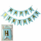 Happy Birthday Banner Decorations Bunting Gold Balloons Hanging Garland Party UK
