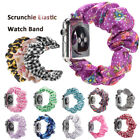 Scrunchie Elastic Printed Fabric Strap Band Bracelet For Apple Watch 5 4 3 2 1- image