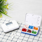 Mini Smart Timing Remind Medicine Box Alarm Clock Electronic Pill Carrying Case