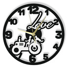 Wall Clock Wedding Couple Love Gift Silent Non-Ticking Black Light Grey 187