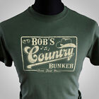 Bob's Country Bunker T Shirt The Blues Brothers Jake Elwood Ray Charles Cool Grn