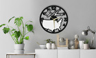 Wall Clock USA Map My Home Gift Silent Non-Ticking Room Ply Wood 179