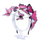 Lady 3D Butterfly Headband Colorful Bogus Butterflies Hair Band Crown Accessory