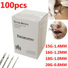 Kyпить 100pcs Disposable Body Piercing Sterile Needles 15G 16G 18G 20G Tattoo Kit US на еВаy.соm