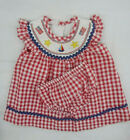 Infant Girls Bonnie Baby by Bonnie Jean Patriotic Dress W/T Bloomers Size 3/6Mth