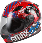 GMAX Youth GM-49Y Beasts Full Face Helmet RED BLUE