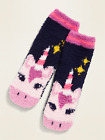 NWT Old Navy Magical Unicorn Horse Soft Chenille Fuzzy Cozy Sock Kids Girls NEW