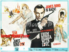 From Russia with Love 1963 Repro Reproduction Print UK Quad Movie Poster £39.99 GBP on eBay