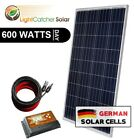 600W Watt System for off-grid battery charging 12-v volt (600W per day)