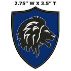 """Roaring Lion Medieval Coat of Arms 3.5"""" Embroidered Patch Iron / Sew-On Applique"""