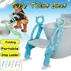 Folding Baby Kids Potty Training Toilet Chair Ladder Design Soft Seat Cushion image