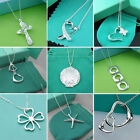 Wholesale Lady /womens  925silver Pendant Silver Necklace Fashion Jewelry