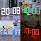 Digital Large Big Jumbo LED Wall Desk Alarm Clock Watch 24/12H Display Snooze US