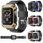 For Apple Watch Series 5 4 Waterproof Case 44mm 40mm & Soft Band Full Body Cover image