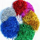 1 Pair Kids Handheld Cheerleader Pom Poms Squad Cheer for Dance Party Club Decor