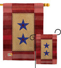 Two Star Service Garden Flag Military Familys Member Armed Forces House Banner