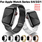 For Apple Watch Series 5/4/3/2/1 Stainless Steel Wrist Band iWatch Strap 38-44mm image