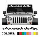 Abused Daily Style2 Windshield Decal Sticker Vinyl Lift Import Diesel Turbo Low
