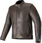 Alpinestars Crazy Eight Leather Motorcycle Jacket BROWN