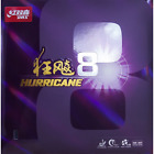 DHS Hurricane 8 Soft Table Tennis & Ping Pong Rubber, Pick Variation and Add-Ons