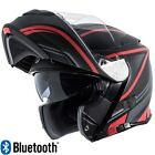 Torc T28  Modular Motorcycle Helmet Dual Visor with Bluetooth Red Vapor DOT