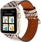I Watch Band  Leather Watch Band Strap for Apple  watch series 5 4 3 2 1