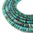 Genuine Blue Green Turquoise Smooth Rondelle Beads 4x7mm 4x8mm 5x10mm 15