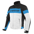 Dainese Saetta D-Dry Jacket Black Blue White Waterproof Motorcycle Jacket New