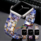 38 40 42 44mm Luxury Resin Leopard Tortoise Watch Band Strap For Apple Watch image