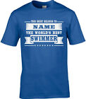 Swimmer Mens Personalised T-Shirt Gift Swim Swimming Pool Water Sport Funny Joke