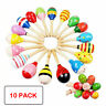 More images of 11.5cm Wooden Maraca Baby Music Instrument Rattle Hand Shaker Toys Fun Game Gift