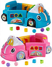 Fisher-Price Laugh  Learn Smart Stages Crawl Around Car BLUE / PINK
