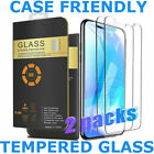 2 Pack iPhone Tempered Glass Screen Protector Case Friendly for Apple 6 7 8 X 11