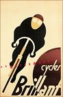Cycles Brilliant 1925 Vintage Poster Print French Bicycle Advertising Art Deco