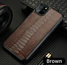 Genuine Ostrich Leather Case for Apple iPhone 11 11Pro Max X XR XSMax Cover Skin