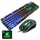 T5 Rainbow Backlight USB Gaming Keyboard and Mouse Set for PC Laptop