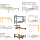 Wood Bed Single Double King Size Bunk Bed Headboard Set Bedroom Furniture