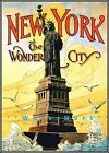 New York City 1918 Wonder City Statue Of Liberty Vintage Poster Print Travel
