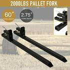 """1500lbs 2000lbs 4000lb 43"""" 60"""" Clamp on Pallet Fork W/ Adjustable Stabilizer Bar"""