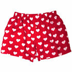 NEW Royal Silk® Men's Fab Red & White Heart Silk Boxers S-3XL