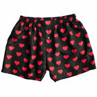 NEW Men's Black & Red Heart Silk Boxers S-3XL by Royal Silk®