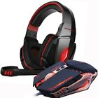 Gaming Headset Mouse Gamer Headphones Earphone + Gamer Mice LED Light Wired USB