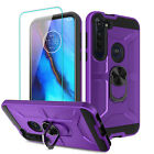 For Motorola Moto G Stylus Case With Ring Holder Stand / Glass Screen Protector