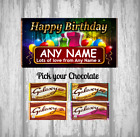 Personalised Chocolate Bar - Happy Birthday Any Name - Present - Gift - Family
